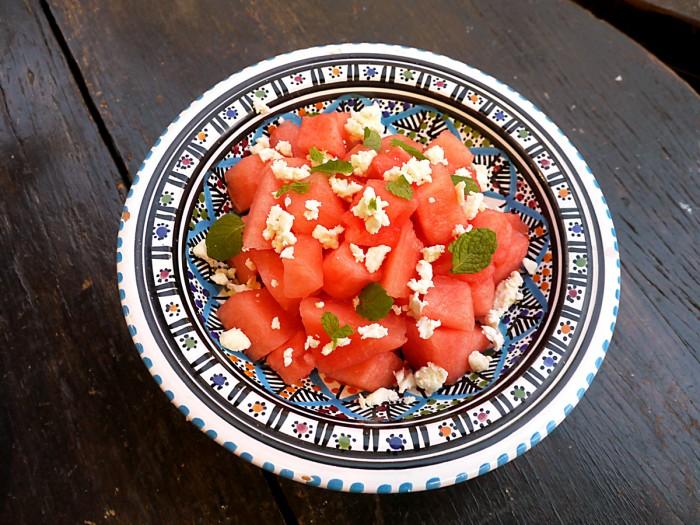 西瓜のサラダ