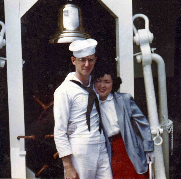 Stever and Emmy in Japan about 1952